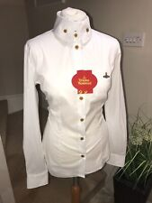 Authentic VIVIENNE WESTWOOD Red Label White Button Front Shirt (40)UK8 RRP £220