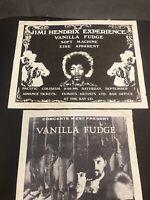 Jimi Hendrix Experience Poster Authentic Handbill 1968 & Vanilla Fudge Vanc