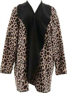 Cuddl Duds Reversible Fleece Cascade Wrap (Black/Animal, 1X) A369302