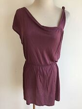 Free People One-Shoulder Blouson Tunic Top Dress 'Plum/Prune' Sz XS NWT MSRP $58