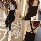 Women Sleeveless Bib Pants Suspenders Rompers One-Piece Jumpsuits Overall New QL