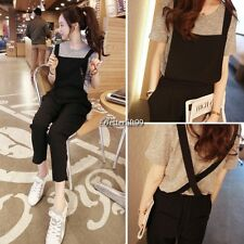 Women Sleeveless Bib Pants Suspenders Rompers One-piece Jumpsuits Overall QL L