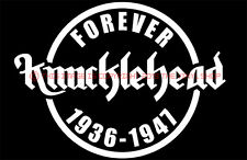Knucklehead Forever 1936-1947 decal sticker fits: Harley Davidson ONLY