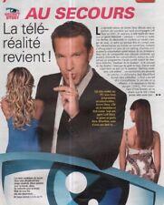 Coupure de presse Clipping 2008 Au Secours la télé réalité revient  (4 pages)