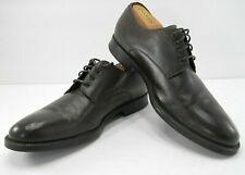 A.Testoni Basic Mens Deep Dark Brown Leather Derby Dress Shoes 70215 Size 9.5