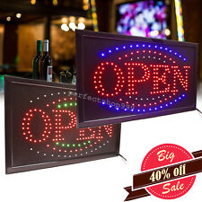 Bright Led Light Flash Motion Business Open Sign Chain Switch Visible Bar Café