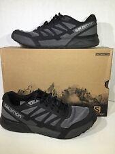 Salomon City Cross Aero Mens Size 10.5 Gray Black Athetlc Shoes Sneakers ZI-1574