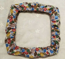 Vintage Button Fabric 11x11 Grime Guard Cover For Q Snap Frame