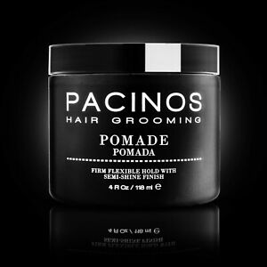 3x Pacinos Signature Line Pomade 4 oz Firm Flexible Hold, Semi-Shine Finish New