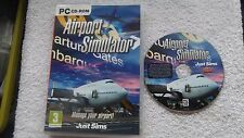 AIRPORT SIMULATOR PC CD-ROM V.G.C. FAST POST ( manage your airport ! )