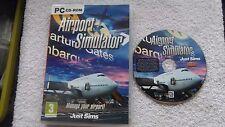 Simulatore Aeroporto PC CD-ROM v.g.c. Post veloce (gestisci il tuo aeroporto!)