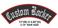 "Custom Embroidered 13"" Top Rocker Vest Patch Motorcycle Biker Patch Club MC (B)"
