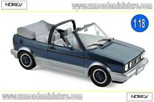 Volkswagen Golf Cabriolet Bel Air 1992 Blue metallic  NOREV  - NO 188404 - 1/18