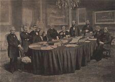 PARIS COMMUNE 1871. Conseil des Ministres, Hotel de la Prèsidence. Thiers c1873