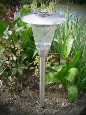 Alta Calidad LED ACERO inox. Solar Linterna Lámpara con 2 leuchtstark 56cm 465
