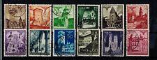 Briefmarken Generalgouvernement 40 - 51 gestempelt  Freimarken Bauwerke