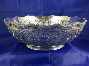 Vintage Persian 84% Silver Pierced Work Bowl - 624 Grams Scrap or Not