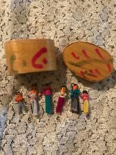 Handmade In Guatamala 100% Cotton Miniature Doll Set In Wooden Box