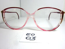 272143512411 Elegant Optical Vintage 1980 s Sun Eyeglasses  Tess D167 Cranberry Red  (EO-03
