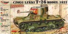 T-26 MODEL 1933 TANK (SPANISH, SOVIET & GERMAN WEHRMACHT MKGS)#609 1/72 MIRAGE