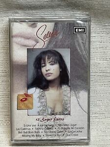 SELENA Quintanilla 12 super exitos ORIGINAL cassette tape Sealed