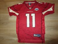 Larry Fitzgerald #11 Arizona Cardinals Super Bowl Reebok NFL Jersey Youth M 12