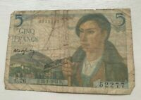 1943 France 5 Francs - World Banknote Currency