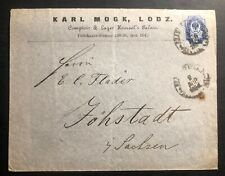 1894 Lodz Poland Russia Commercial Cover To Sachsen Germany Stamp Sc#42