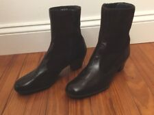 Bally Suite SUISSE Brown Leather Suede Boots size 7 Made in Switzerland NEW!