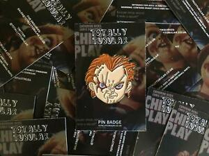 CHILD'S PLAY - CHUCKY FACE  ENAMEL PIN BADGE BY TOTALLY TUBULAR