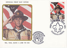 1979 LIBERIA SCOUTING / NORMAN ROCKWELL COMMEM.FDC COVER - WE TOO HAVE A JOB TO
