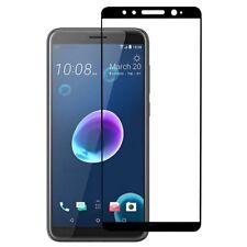 Für HTC Desire 12 3D Premium 0,3 mm H9 Hartglas Schwarz Folie Schutz Hülle Neu