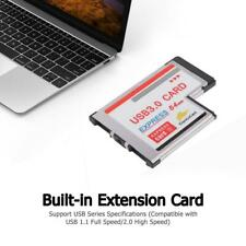 54mm to USB 3.0 Converter Express Card Laptop Dual Port NEC Chipset Adapter