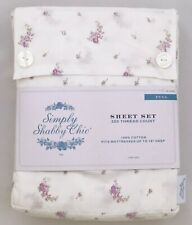 Rachel Ashwell Simply Shabby Chic Lavender Lilac Purple Rose Sheet Set FULL