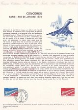 Document Philatélique Timbre 1er Jour 01 1976 Concorde Paris Rio