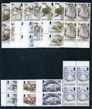 Falkland Is Deps 2004 QEII Animals & Birds set complete blocks MNH. SG 390-401.