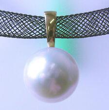 Collane e pendagli di lusso con perle bianche in oro giallo 18 carati