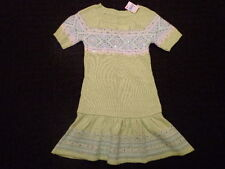 NWT New Girls Size 10 Justice Green Tunic Sweater Dress