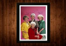THE GOLDEN GIRLS CAST BEA ARTHUR SIGNED PP FRAMED A4 GIFT IDEAS RETRO TV CARTOON
