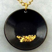Large Pan Necklace, flakes of pure Gold, miner prospector dredge jewelry pendant