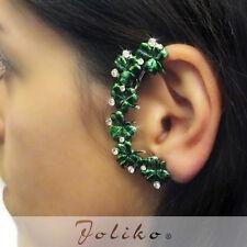 JoliKo Ohrklemme Ohrschmuck Ear cuff Earring Fee Fantasy Kristall Klee RECHTS