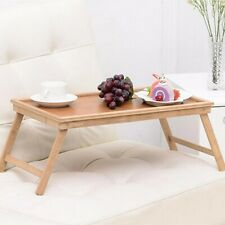 Foldable Wooden Bamboo Bed Tray Breakfast Laptop Desk Tea Serving Table