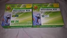 "Duck Indoor 10-Window Shrink Film Insulator Kit 62x420""  Lot of 2"