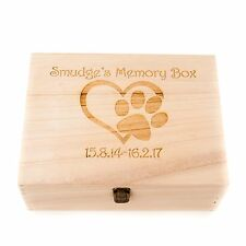 Personalised Engraved Wooden Pet Dog Memory Box