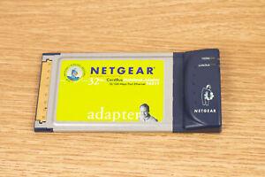 NetGear CardBus Mobile Adapter Model FA511 32 Bit 10 100 Mbps Network Card
