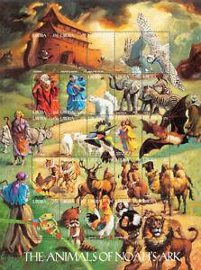 Liberia 1998 - Animals Of Noah's Ark - Sheet of 25 Stamps - MNH