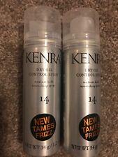 (2) KENRA Dry Oil Control Spray Medium Hold Nourishing Spray 1.2 oz. Travel Size
