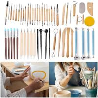 54PCS Ceramic Clay Tools Set Polymer Clay Tools Pottery Tools Set Wooden Pottery