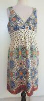 KACHEL White/Pastel Coloured Silk Dress Size 12