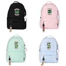 Riverdale Serpent Students Schoolbag Backpack Unisex Travel Bag Black Pink Green